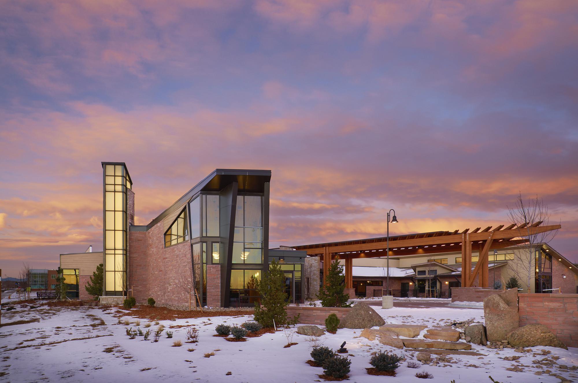 Denver Hospice Lowry Care Exterior Sunset