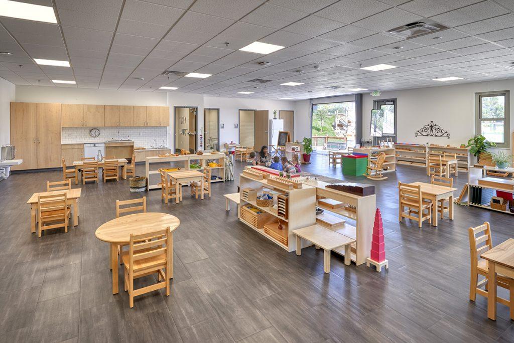 Great Work Montessori Kindergarten Classroom