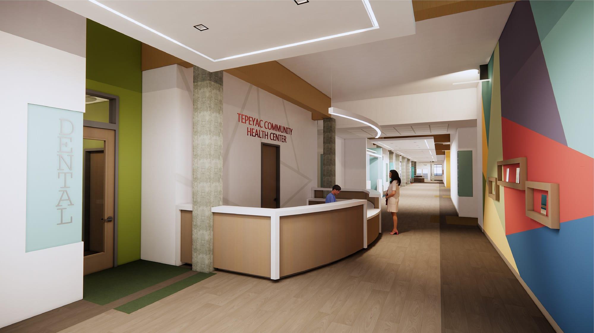 Clinica Tepeyac Reception Desk
